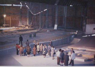 Construcció nou Teatre La Passió Olesa visita a interior recinte buit