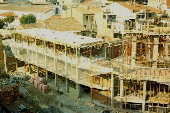 Construcció nou Teatre La Passió Olesa bloc de vestuaris