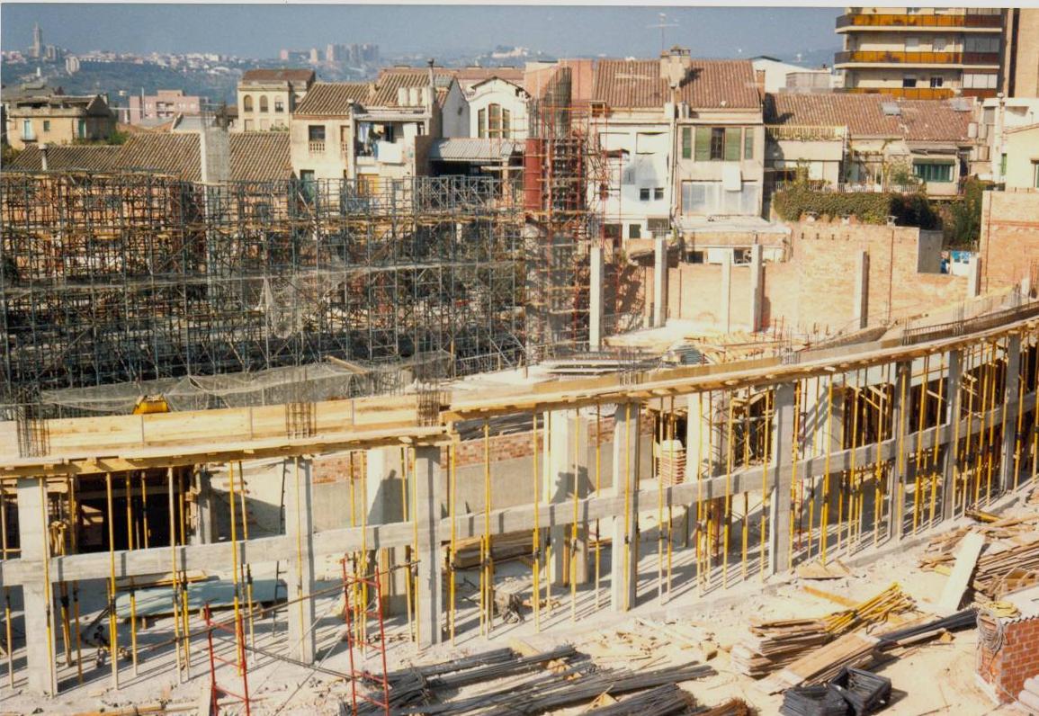 Construcció nou Teatre La Passió Olesa vista general elevada