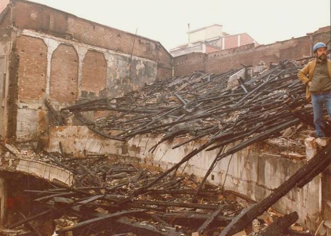 Destrucció Gran Teatre La Passió Olesa incendi 1983 interior