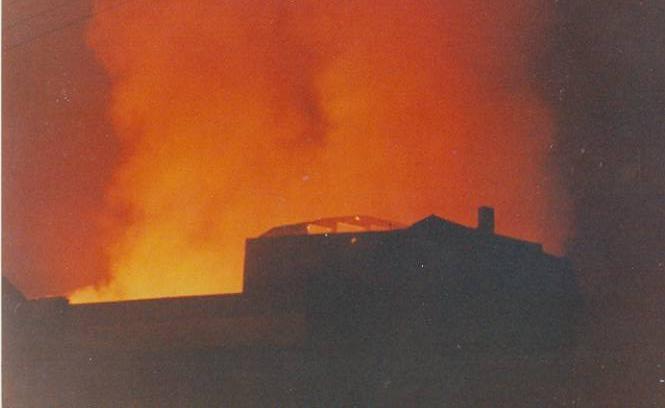 Destrucció Gran Teatre La Passió Olesa incendi 1983