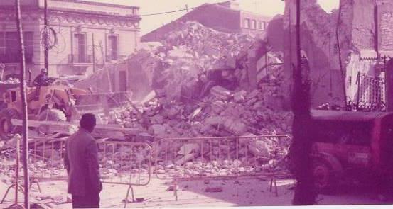 Destrucció Gran Teatre La Passió Olesa incendi 1983 enderroc