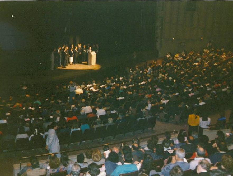 Inauguració nou teatre La Passió Olesa 1987