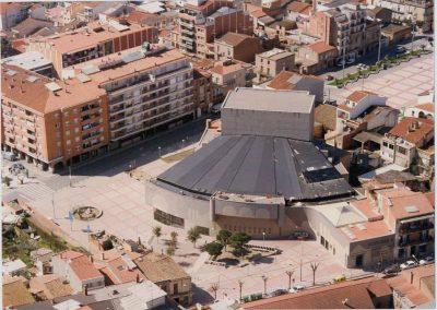 Exterior nou teatre La Passió Olesa vista aèria construcció