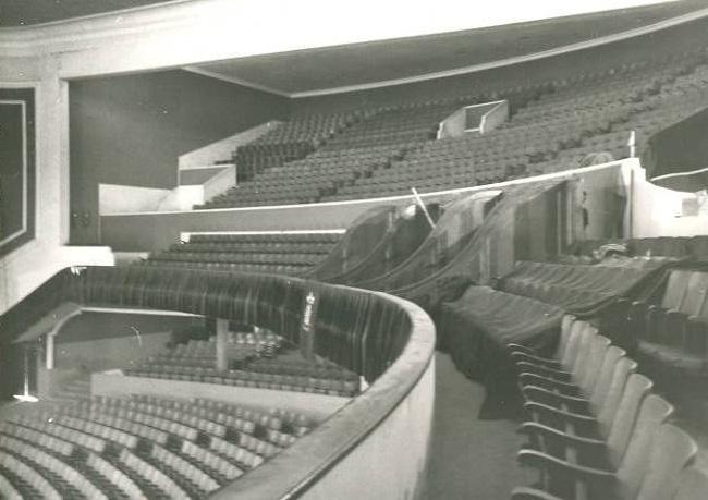 Vista de les llotges del desaparegut Gran Teatre de La Passió d'Olesa
