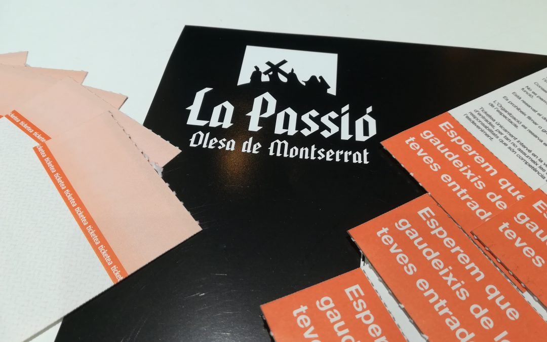 Entrades amb logo de La Passió d'Olesa