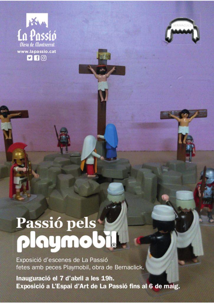 Cartell expo playmobil abril 2018 a La Passió d'Olesa