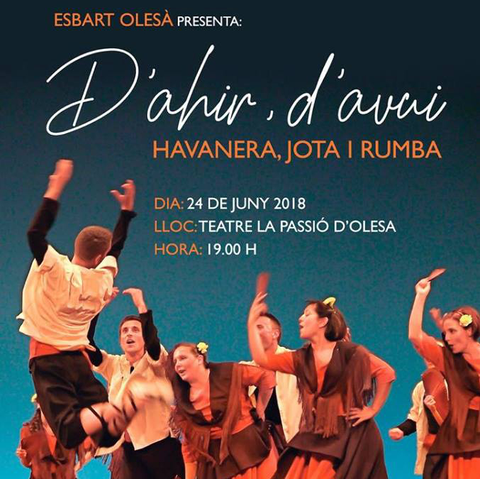 Detall cartell espectacle Esbart Olesà Festa Major 2018