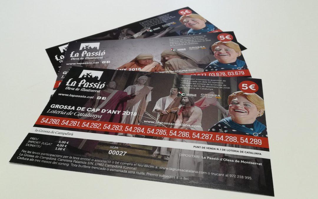 Participacions de loteria de La Passió d'Olesa