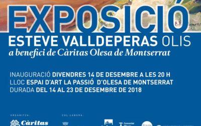 Càritas inaugura una exposició benèfica a l'Espai d'Art de La Passió d'Olesa