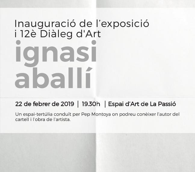 Diàleg d'Art amb Ignasi Aballí, autor del cartell 2019 de La Passió d'Olesa, divendres 22 de febrer