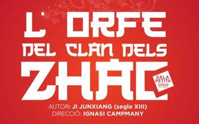 L'orfe del clan dels Zhao, viatge teatral a l'antiga Xina el 8 i 9 de novembre
