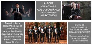 Cartell Concert Cobla Marinada i Albert Guinovart