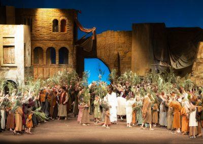 Entrada de Jesús a Jerusalem a La Passió d'Olesa